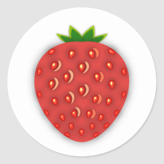 Strawberry Fruit Classic Round Sticker