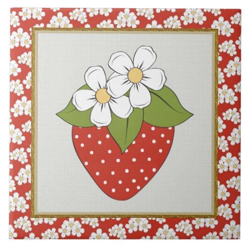 Strawberry Fruit Kitchen Or Restraunt Tile