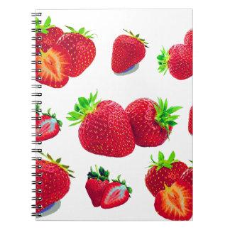 Strawberry Fruit Pattern Notebook