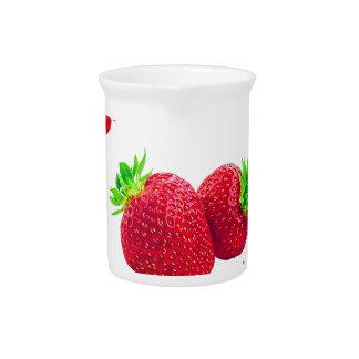 Strawberry Fruit Pattern Pitcher