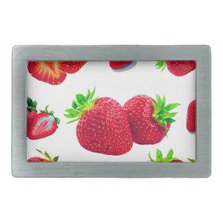 Strawberry Fruit Pattern Rectangular Belt Buckle