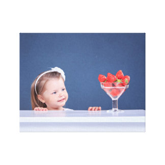 Strawberry girl gallery wrapped canvas