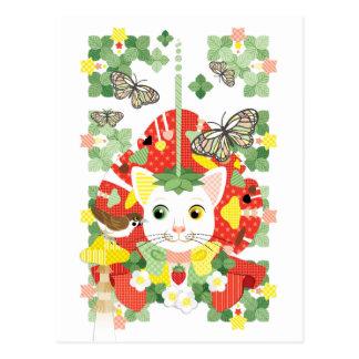 Strawberry great fortune /Strawberry Daifuku Postcard