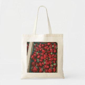 Strawberry Harvest Canvas Bag
