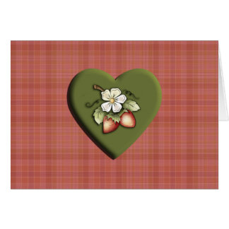 Strawberry Heart Greeting Cards