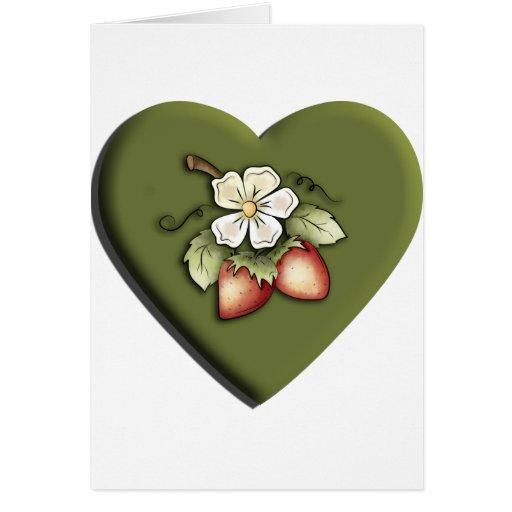 Strawberry Heart Card