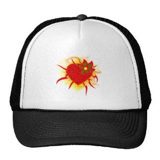 Strawberry heart fire strawberry heart fire trucker hat