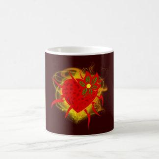Strawberry heart fire strawberry heart fire coffee mug