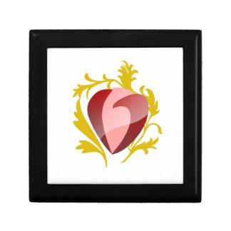 strawberry heart gift box