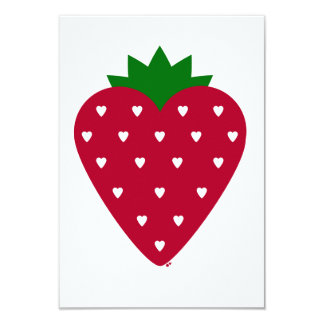 Strawberry Heart Invitation