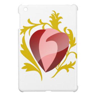 strawberry heart iPad mini cover