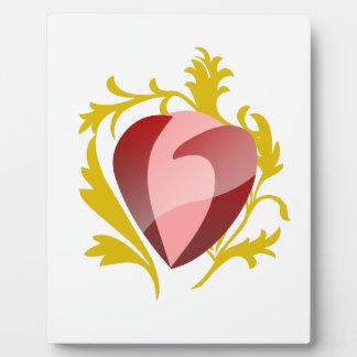 strawberry heart plaque