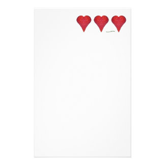 Strawberry Hearts Customized Stationery