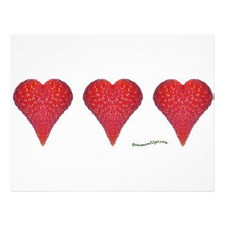 Strawberry Hearts Flyer Design