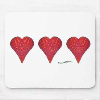 Strawberry Hearts Mouse Pad