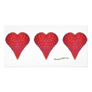 Strawberry Hearts Picture Card