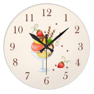 strawberry hoists cream large clock