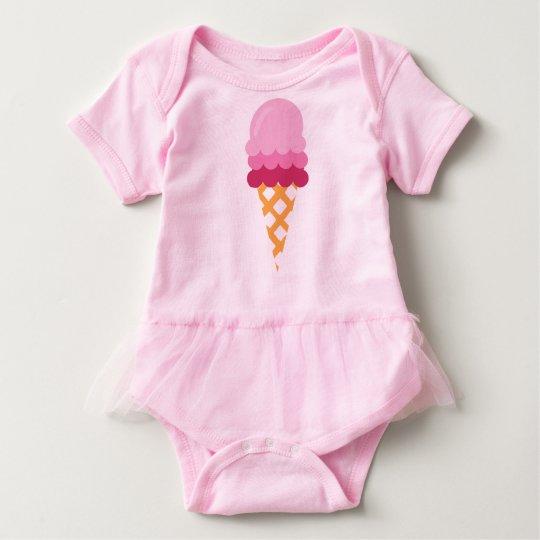 Strawberry ice cream baby bodysuit