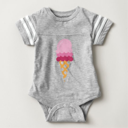 Strawberry ice cream baby bodysuit