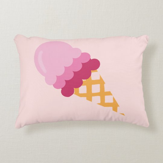 Strawberry ice cream decorative cushion
