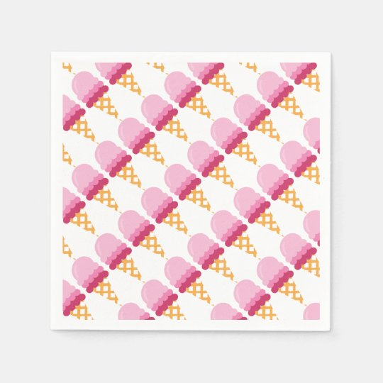 Strawberry ice cream disposable napkins