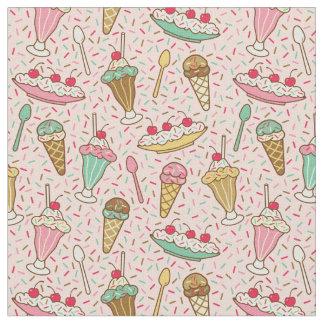 Strawberry Ice Cream Fabric