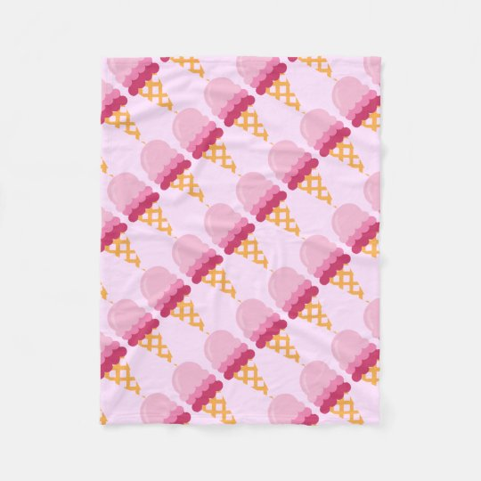 Strawberry ice cream fleece blanket