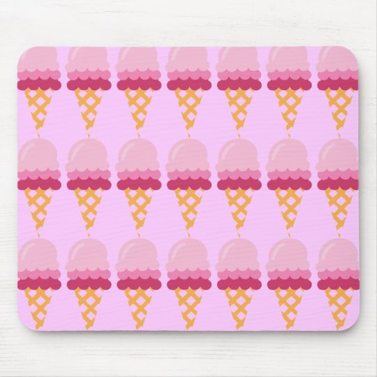 Strawberry ice cream mouse pad