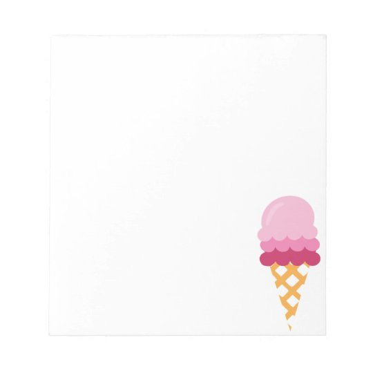 Strawberry ice cream notepad