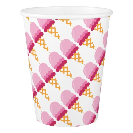 Strawberry ice cream paper cup