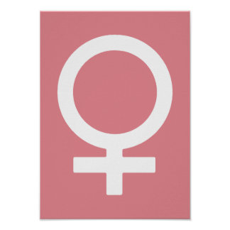Strawberry Ice  Female Symbol Poster