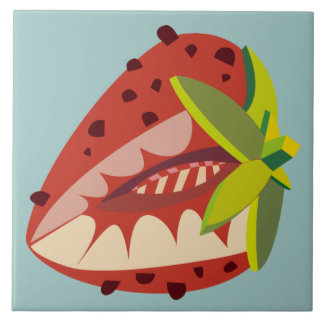 Strawberry illustration tile