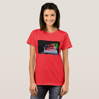 strawberry in a water spash T-Shirt