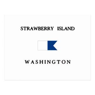 Strawberry Island Washington Alpha Dive Flag Post Card