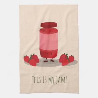 Strawberry Jam cartoon character   Kitchen Towel