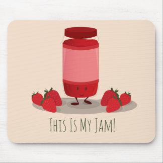 Strawberry Jam cartoon character   Mousepad