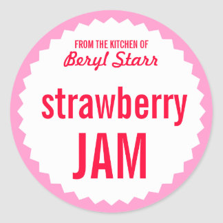 Strawberry Jam Home Canning Label Template