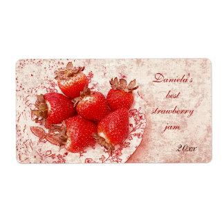 strawberry jam label shipping label