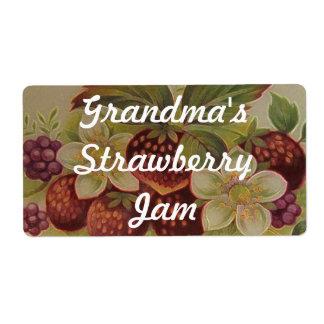 Strawberry Jam Shipping Label