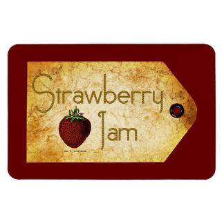 Strawberry Jam Label Rectangle Magnets