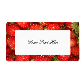 Strawberry jam label stickers shipping label