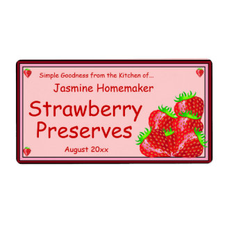 Strawberry Jam or Preserves Home Canning Jar