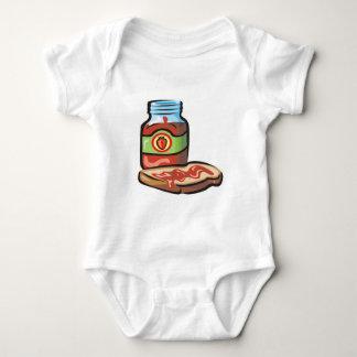 strawberry jelly jam and toast baby bodysuit