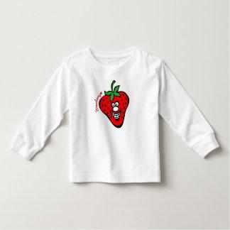 Strawberry *Kids White Long Sleeve T-shirt
