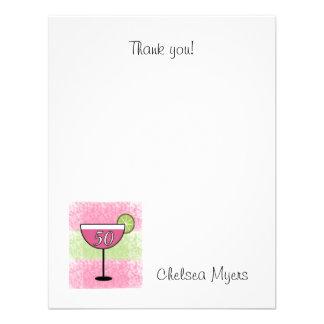 Strawberry Kiwi Drink Thank you note AGE 50 Invites