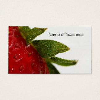 Strawberry Leaves With Business Name Business Card
