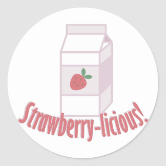 Strawberry-licious Classic Round Sticker