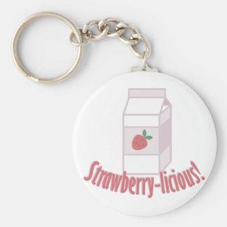 Strawberry-licious Key Ring