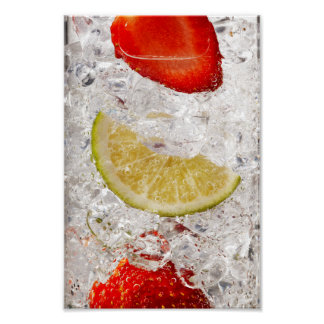 Strawberry Lime Drink Poster