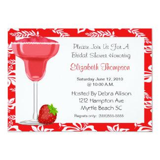 Strawberry Margarita Bridal Shower Invitation